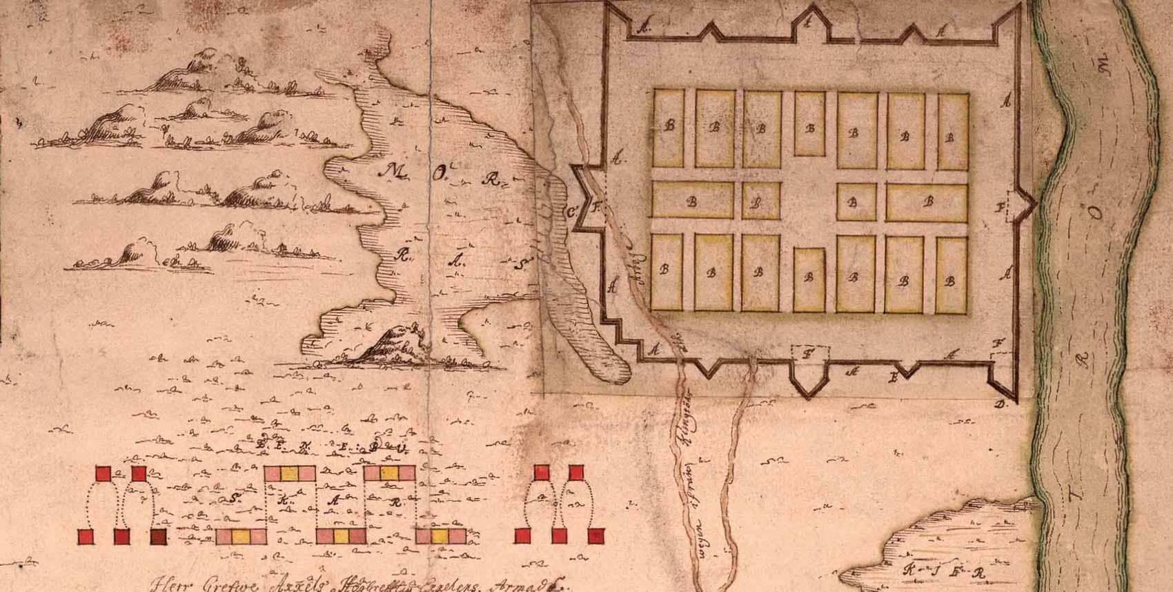 Karta över XI:s fältlägret