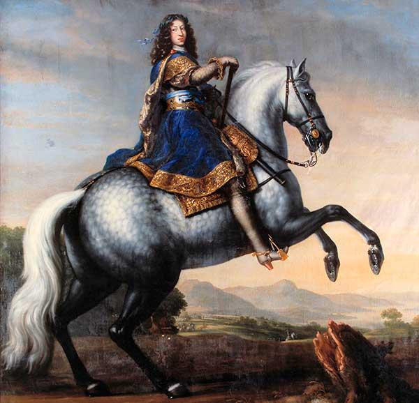 Porträtt av Karl XI till häst