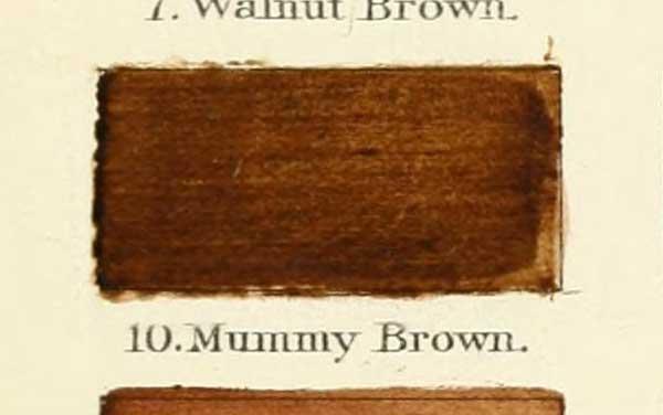 Färgen mumiebrunt