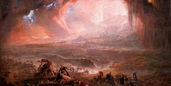 Målning föreställande Vesuvius utbrott 79