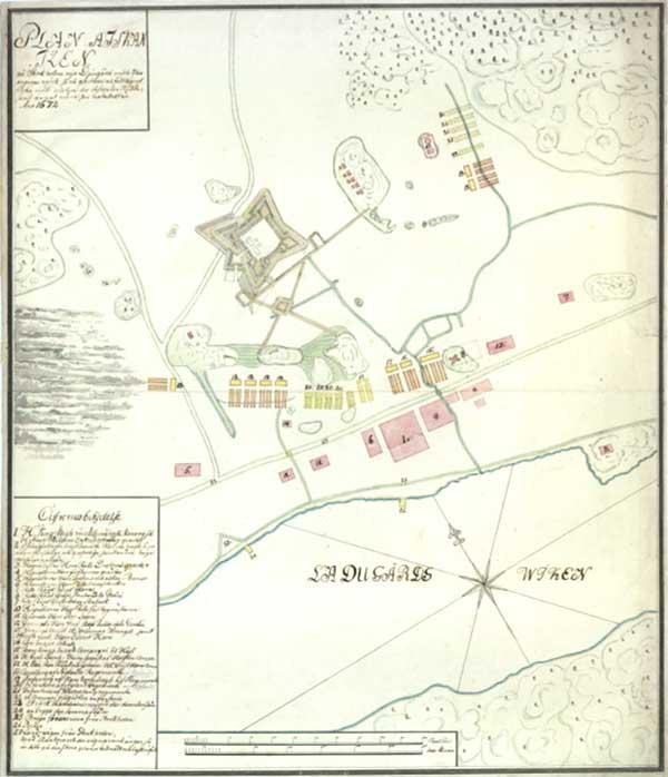 Karta över Karl XI:s skans