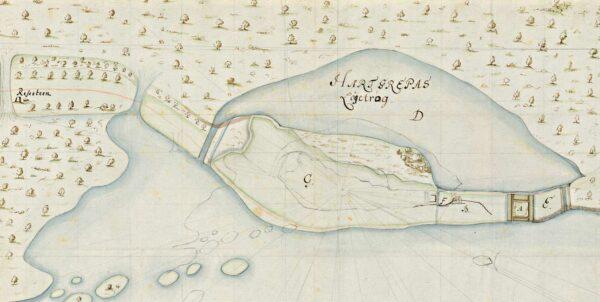 Karta över delar av Almundsryds socken, med en Hönshylte skans markerad som Troja.