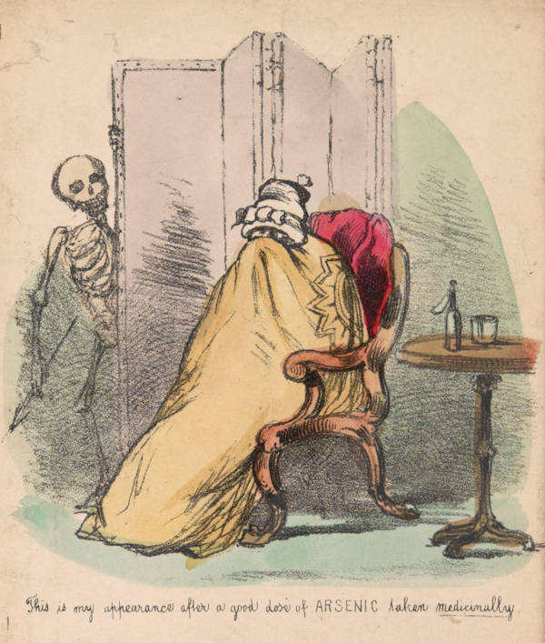 Illustration av kvinna som får besök av döden