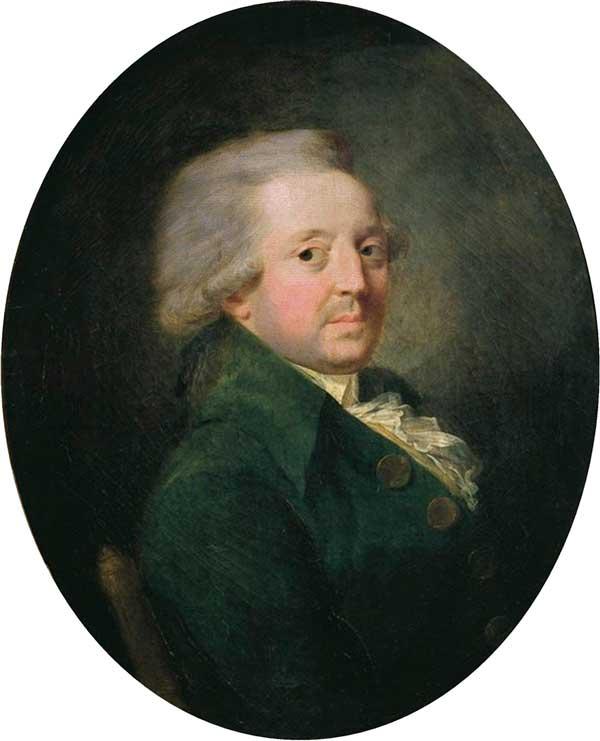 Oljemålning föreställande Nicolas de Condorcet