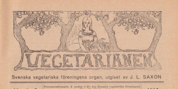 Framsidan av tidningen Vegetarianen