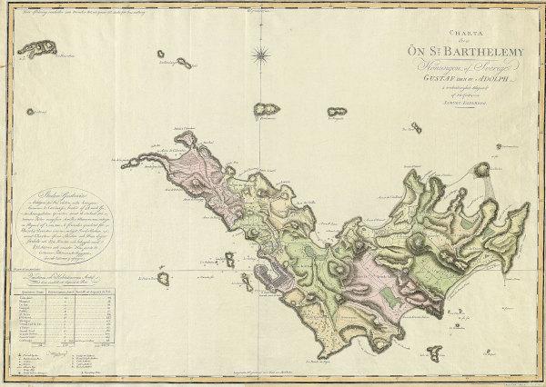 Karta över Saint Barthélemy