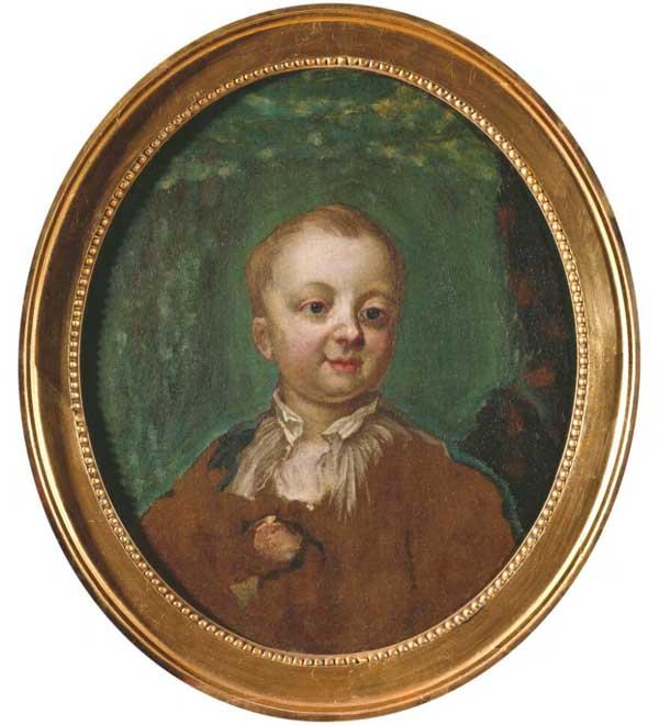 Målning föreställande Gustav IV Adolf, med partier tydligt övermålade