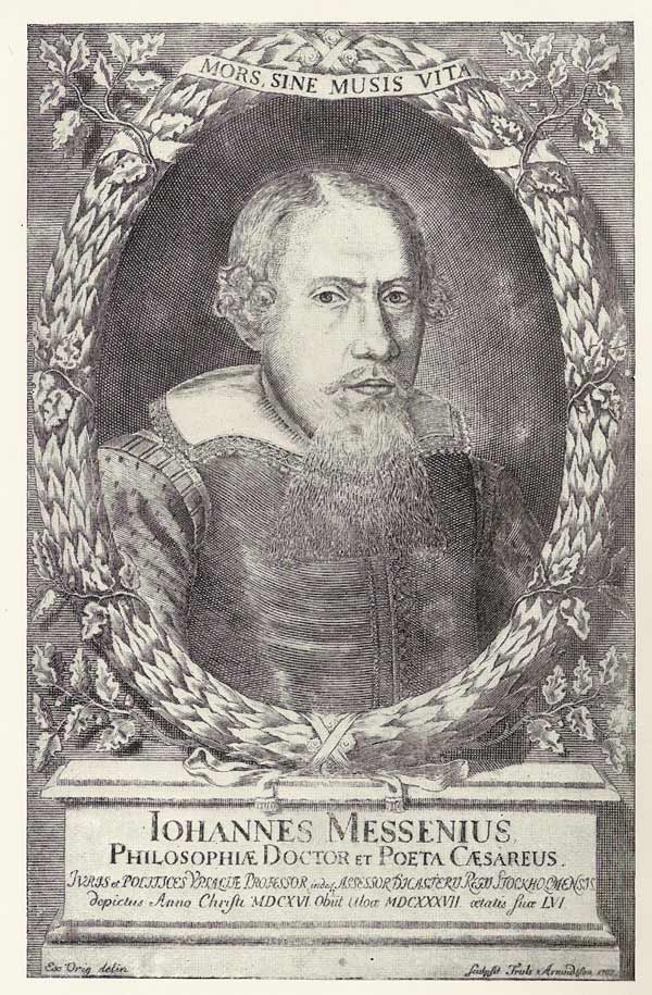 Porträtt föreställande Johannes Messenius