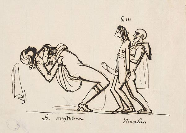 Teckning som antyder att det i själva verket var hovstallmästare Munck som var far till Gustav IV Adolf