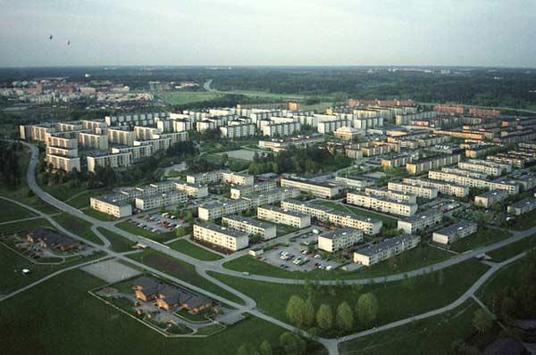 Fotografi föreställande bostadshus i Rinkeby